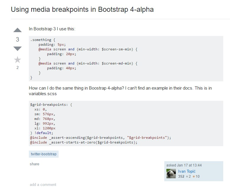 Bootstrap Breakpoints  difficulty