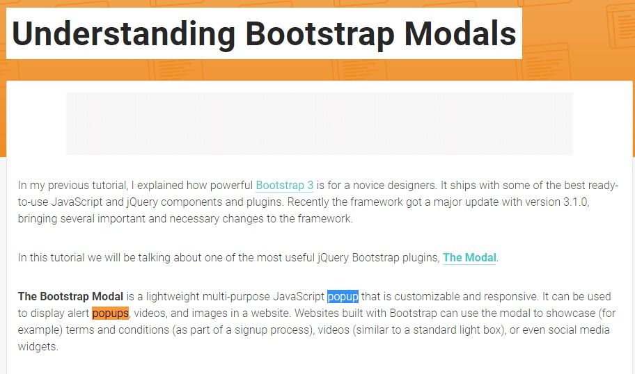 Another useful  post  relating to Bootstrap Modal Popup