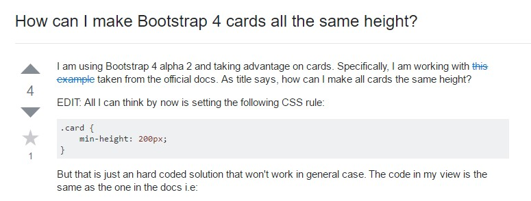 Insights on  precisely how can we  build Bootstrap 4 cards just the  very same  height?