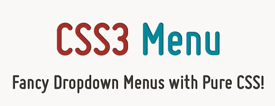 Horizontal Css Menu Free Download