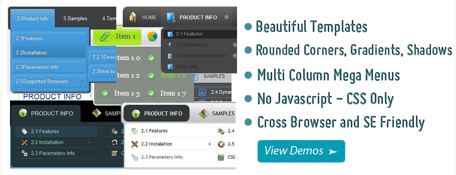 Mega Drop Down Menu For Wordpress Demo