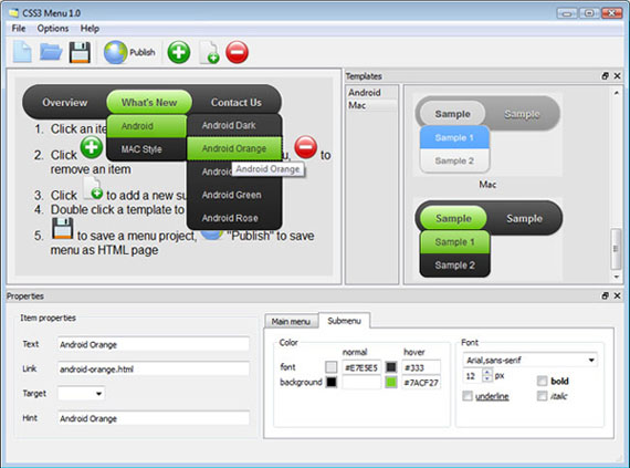 <u> Dropline Menu Open Source</u> gui screenshot